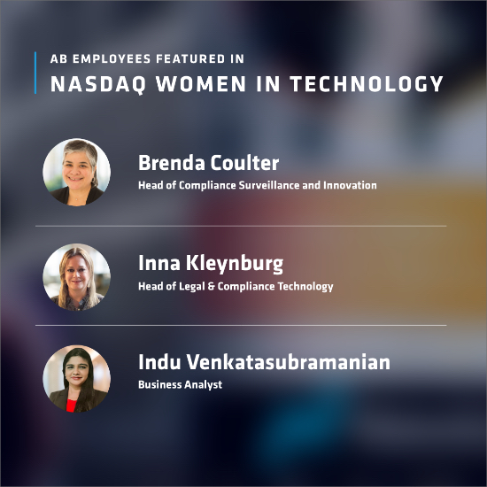 AB Employees Featured in NASQAG Women in Technology